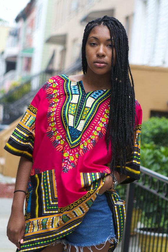 2016-taille-libre-femme-top-rose-rouge-dashiki-longue-chemise-africana-mujer-tradition-africaine-dashiki-afrique